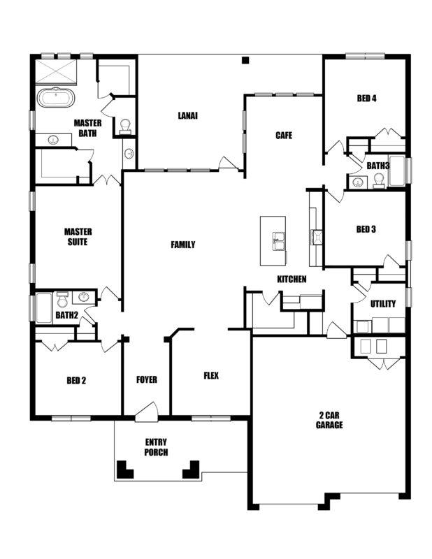 New Homes in Freeport, Florida. The Riesling II Floorplan in Vineyards at Hammock Bay