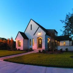 Custom Home exterior in Kelly Plantation
