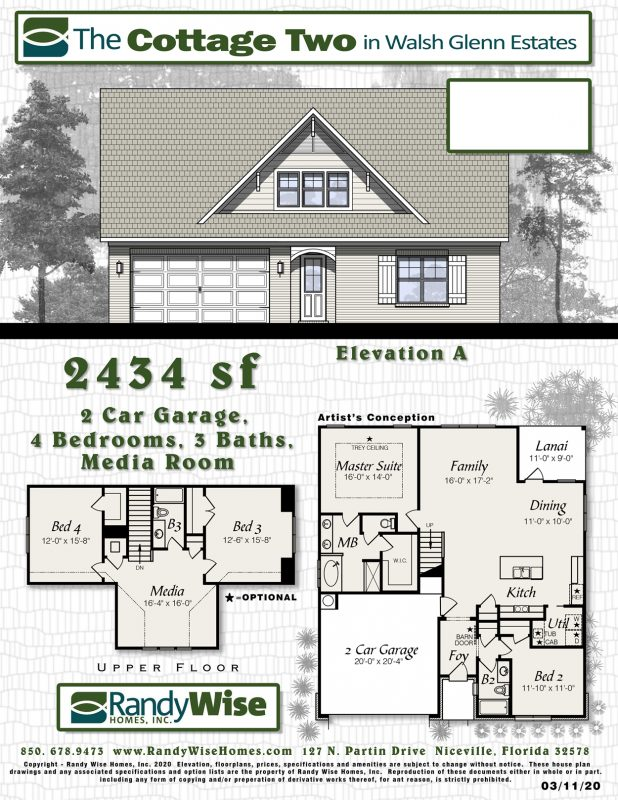 Cottage Two Floorplan in Walsh Glen Estates