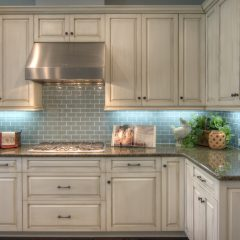 White Cabinets with Subway Tile