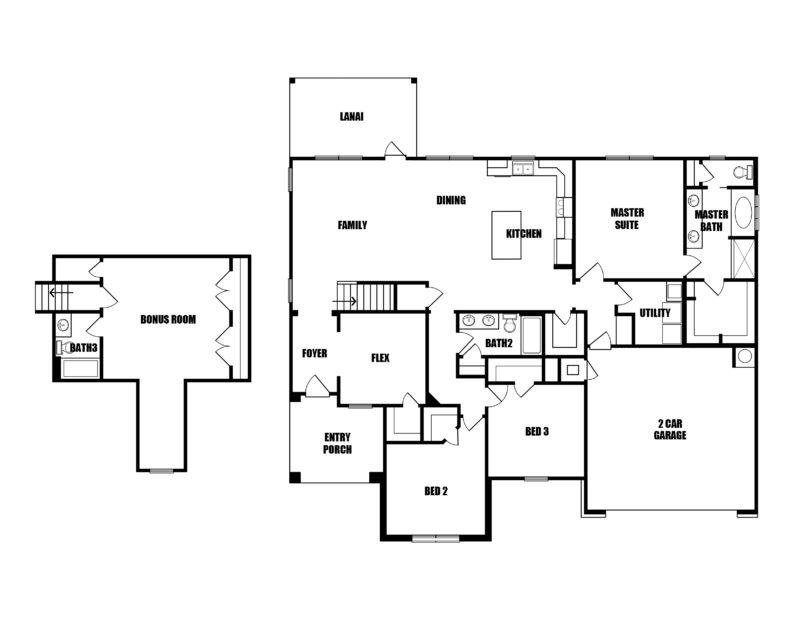 New Homes in Crestview, Florida. The Hart III Floorplan in Walsh Glen Estates