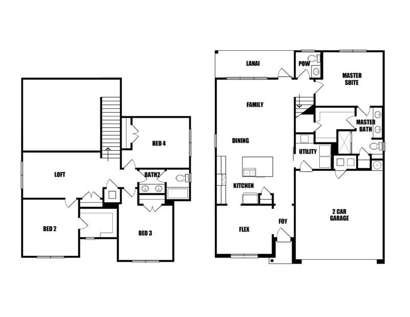 New Homes in Freeport, Florida. The Magnolia Floorplan.
