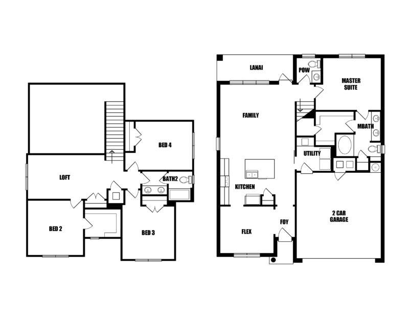 New Homes in Crestview, Florida. The Magnolia Floorplan in Heritage Manor.