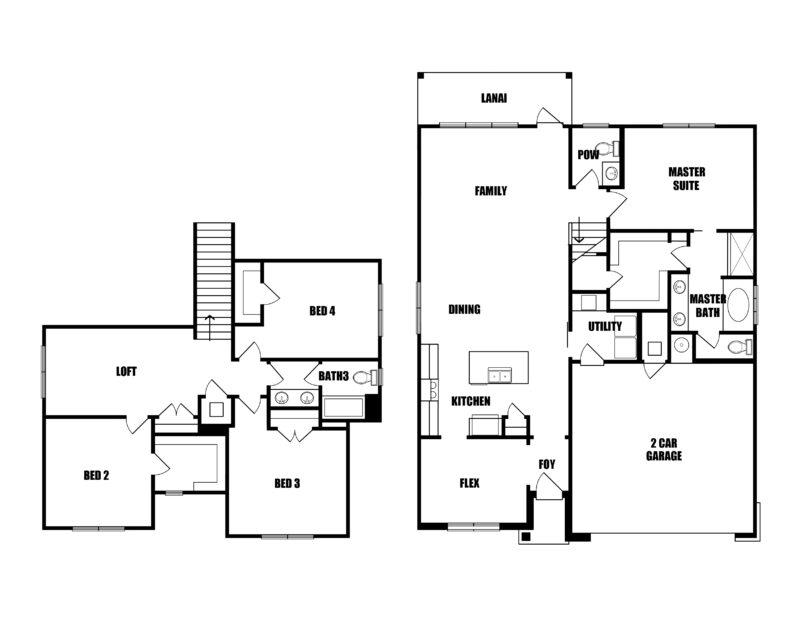 New Home in Crestview, Florida. The Magnolia II Floorplan in Walsh Glen Estates.