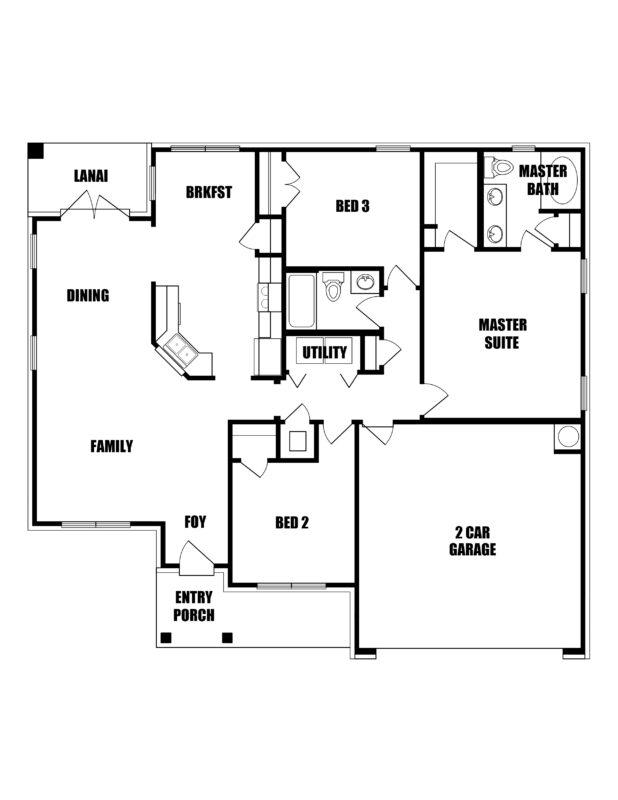 New Homes in Freeport, Florida. The Dogwood Floorplan in Laurel Oaks.