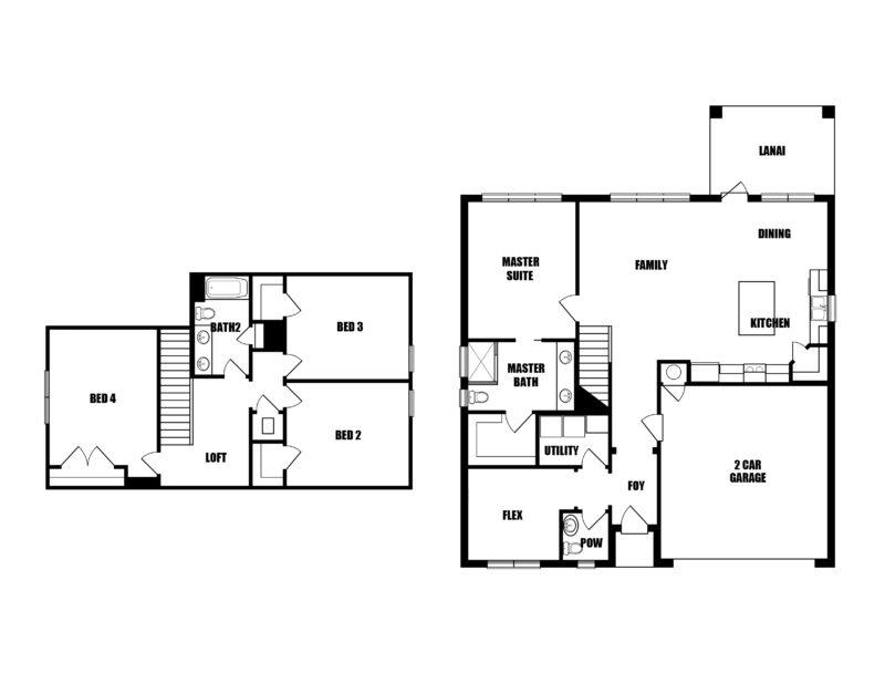 New Homes in Freeport, Florida. The Redfish Floorplan in Laurel Oaks.