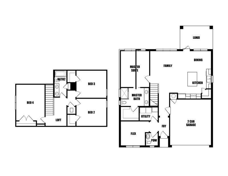 New Homes in Freeport, Florida. The Redfish II Floorplan in Laurel Oaks.