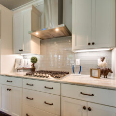 Gas Range and Stainless Hood in Cottage F Plan