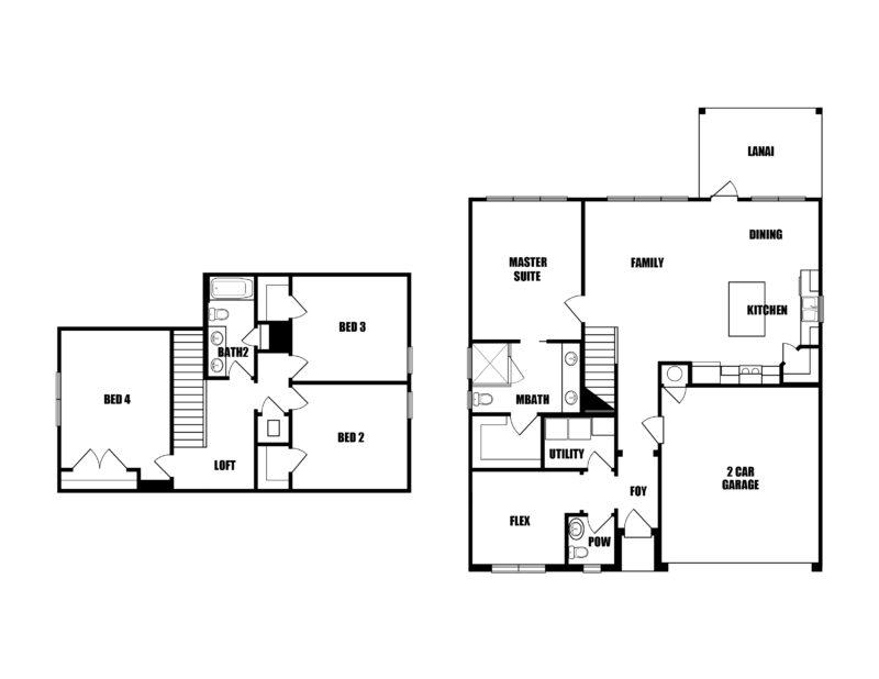 New Homes in Crestview, Florida. Redfish II Floorplan.