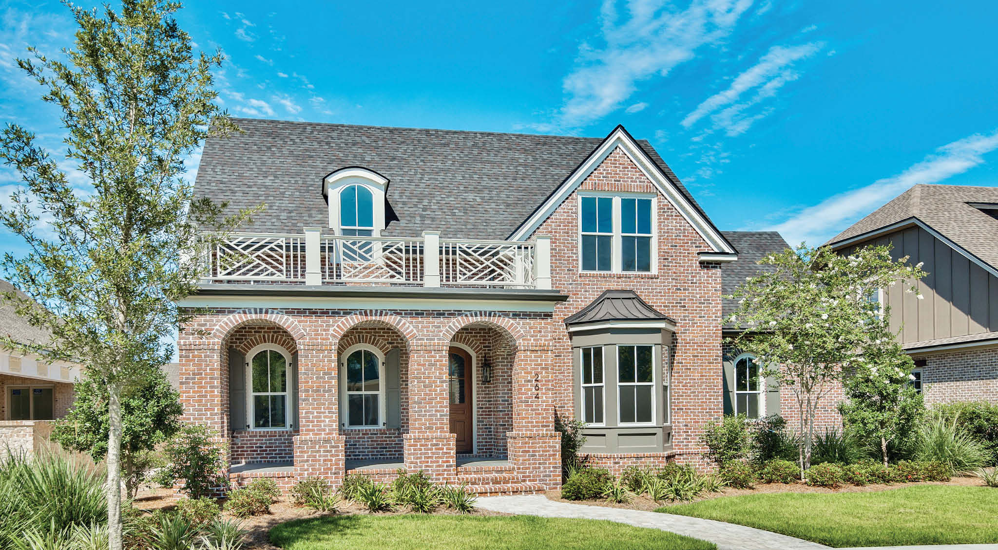 Brick Exterior of Custom Home