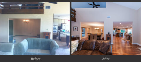 Living Rooms before and after 1